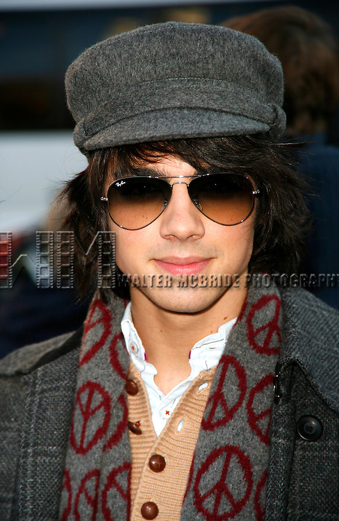 Jonas Brothers: Joe Jonas<br /> appearing in the 2007 Macy's Thanksgiving Day Parade, New York City.<br /> November 22, 2007