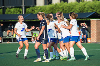 Allston, MA - Sunday July 17, 2016: Julie King  celebrates scoring during a regular season National Women's Soccer League (NWSL) match between the Boston Breakers and Sky Blue FC at Jordan Field.