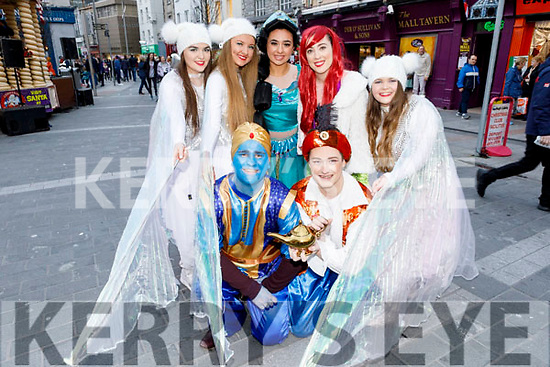 In costume and enjoying the CH Chemist Santa Parade on Saturday. Kneeling l to r: Marcus Nolan and Dominic Hurley. <br /> Standing l to r: Caoimhe Butler, Aisling O'Shea, Kay Barry, Nicole Commerford and Charlie Harris.