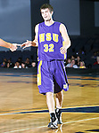 Hardin-Simmons Cowboys forward Jim Walter (32) heads off court in the game between the UTA Mavericks and the Hardin-Simmons Cowboys held at the University of Texas in Arlington's Texas Hall in Arlington, Texas. UTA defeats Hardin-Simmons 88 to 71.