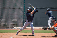 Seattle Mariners first baseman Eric Filia (15) at bat during an Extended Spring Training game against the San Francisco Giants Orange at the San Francisco Giants Training Complex on May 28, 2018 in Scottsdale, Arizona. (Zachary Lucy/Four Seam Images)