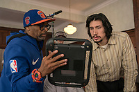 BlacKkKlansman (2018) <br /> Behind the scenes photo of Spike Lee &amp; Adam Driver<br /> *Filmstill - Editorial Use Only*<br /> CAP/MFS<br /> Image supplied by Capital Pictures