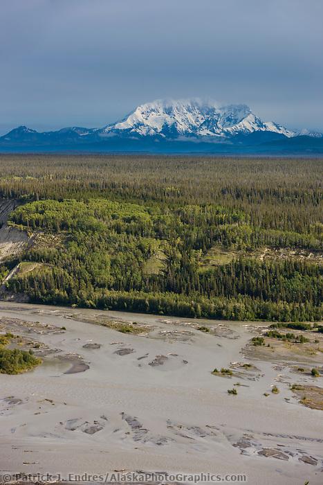 Mount wrangell of the Wrangell Mountains, Wrangell St. Elias National Park, Copper River, southcentral, Alaska.
