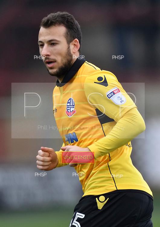11/03/2017 Sky Bet League 1 Fleetwood Town v Bolton Wanderers<br /> <br /> Adam Le Fondre, Bolton Wanderers FC