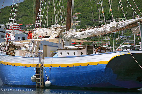 Traditional wooden schooner,'Friendship Rose'and the yacht 'Freya'
