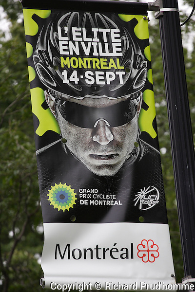 A banner for the Grand Prix Cycliste event in Montreal