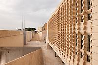 Renzo Pianos gate and Parliament buildings, Valletta, Malta