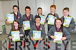 Scoil Naisuinta Dromcloch Listowel award winners Listowel. front l-r  Ciara Finnerty, Liam Guiney, Clodagh Murphy, Back l-r Denis Quill, Cillian Trant, Laim Rusk, Liam Quilter and Patrick Brosnan at the Scriobh Leabhar Presentation evening at the Eduction Centre Dromthacker Tralee