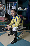 SANTA ANITA, CA- MARCH 31:  poses for a portrait during the Jockey's II Portrait Shoot at the Santa Anita Race Track on March 31, 2009 in Santa Anita, California. (Photo by Donald Miralle for Discovery Communications)