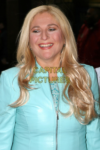 VANESSA FELTZ.Mama Mia! 5th anniversary show at the Prince Of Wales Theatre.06 April 2004.half length, half-length, blinking, funny face.www.capitalpictures.com.sales@capitalpictures.com.© Capital Pictures.