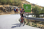 Rohan Dennis (AUS) BMC Racing Team climbs Sierra de la Alfaguara during Stage 4 of the La Vuelta 2018, running 162km from Velez-Malaga to Alfacar, Sierra de la Alfaguara, Andalucia, Spain. 28th August 2018.<br /> Picture: Eoin Clarke   Cyclefile<br /> <br /> <br /> All photos usage must carry mandatory copyright credit (&copy; Cyclefile   Eoin Clarke)