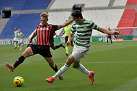 16th July 2020; Nice, France; Veolia Trohy Football friendly, OGC Nice versus Celtic FC;   Mohamed Elyounoussi celtic crosses into the Nice box