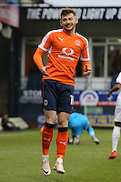 Jordan Cook of Luton Town shows his frustration after missing a chance to open the scoring during the Sky Bet League 2 match between Luton Town and Barnet at Kenilworth Road, Luton, England on 31 December 2016. Photo by David Horn.