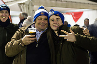 A general view of Bath Rugby supporters in the crowd. European Rugby Champions Cup match, between Benetton Rugby and Bath Rugby on January 20, 2018 at the Municipal Stadium of Monigo in Treviso, Italy. Photo by: Patrick Khachfe / Onside Images