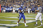 Receiver Randall Cobb celebrates his first touchdown of the game during the first half of UK's home game against Akron, Saturday, September 17, 2010.  Photo by Brandon Goodwin | Staff