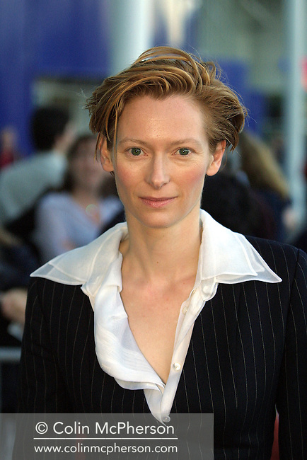 Actress Tilda Swinton arrives at the UCG cinema for the UK premiere of her latest film The Deep End at the Edinburgh International Film Festival.