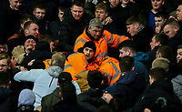 A scuffle breaks out as steward enter the stand to eject a Bolton Wanderers fan<br /> <br /> Photographer Alex Dodd/CameraSport<br /> <br /> The EFL Sky Bet Championship - Bolton Wanderers v West Bromwich Albion - Monday 21st January 2019 - University of Bolton Stadium - Bolton<br /> <br /> World Copyright © 2019 CameraSport. All rights reserved. 43 Linden Ave. Countesthorpe. Leicester. England. LE8 5PG - Tel: +44 (0) 116 277 4147 - admin@camerasport.com - www.camerasport.com