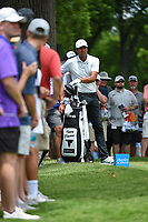 Tony Finau (USA) looks over his tee shot on 3 during round 3 of the 2019 Charles Schwab Challenge, Colonial Country Club, Ft. Worth, Texas,  USA. 5/25/2019.<br /> Picture: Golffile | Ken Murray<br /> <br /> All photo usage must carry mandatory copyright credit (© Golffile | Ken Murray)
