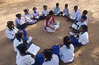 INDIA Tamil Nadu, Karur, education for children in village Sathiamangalam  / INDIEN, Bildung fuer Kinder im Dorf Sathiamangalam