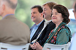 From left, Nev. Lt. Gov. Brian Krolicki, U.S. Sen. Dean Heller, R-Nev., and U.S. Sen. Dianne Feinstein, D-Ca., listen to speakers at the 2012 Lake Tahoe Summit at Edgewood Tahoe in Stateline, Nev., on Monday, Aug. 13, 2012. .Photo by Cathleen Allison