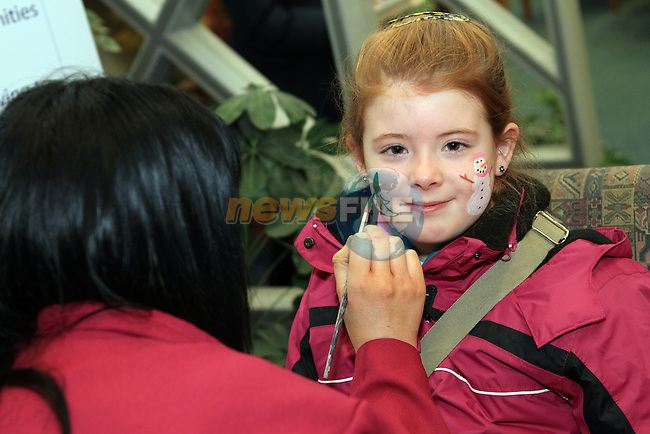 Chloe Peters at the Facepainting in The Library...(Photo credit should read Jenny Matthews www.newsfile.ie)....This Picture has been sent you under the conditions enclosed by:.Newsfile Ltd..The Studio,.Millmount Abbey,.Drogheda,.Co Meath..Ireland..Tel: +353(0)41-9871240.Fax: +353(0)41-9871260.GSM: +353(0)86-2500958.email: pictures@newsfile.ie.www.newsfile.ie.