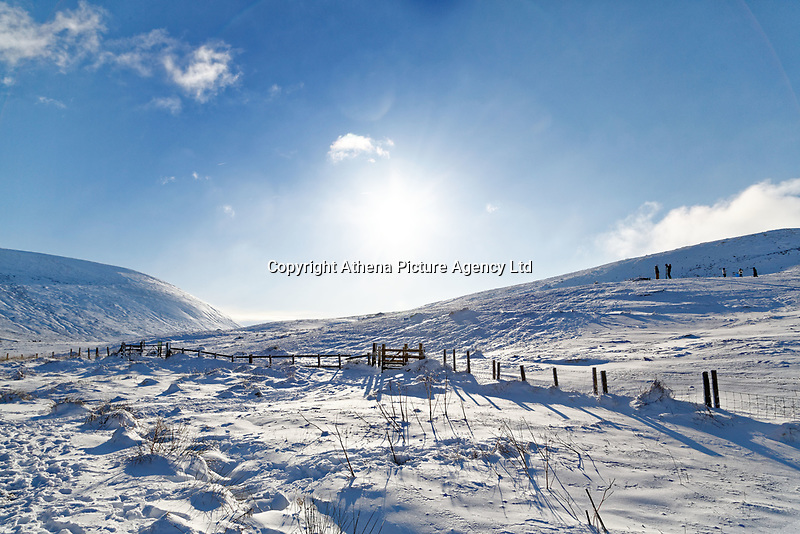 Pictured: Snow covered mountains as seen from at Storey Arms in the Brecon Beacons, Wales, UK. Monday 11 December 2017<br /> Re: Freezing temperatures, snow and ice has affected parts of the UK.