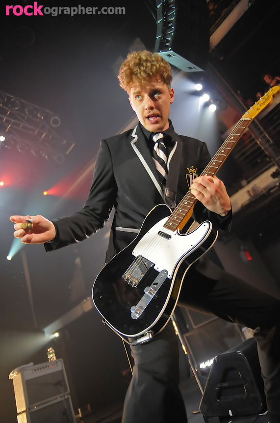 "Niklas Almqvist of  Swedish garage rockers ""The Hives"" performs at Terminal 5 , NYC"