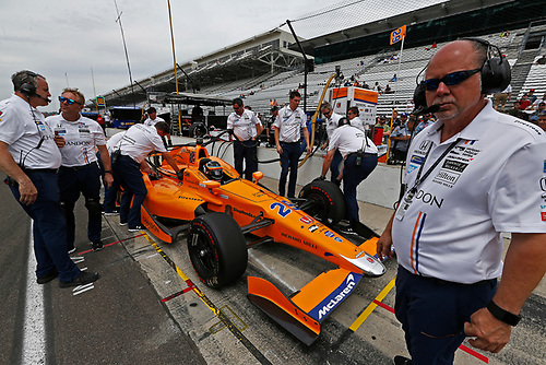 Verizon IndyCar Series<br /> Indianapolis 500 Practice<br /> Indianapolis Motor Speedway, Indianapolis, IN USA<br /> Wednesday 17 May 2017<br /> Fernando Alonso, McLaren-Honda-Andretti Honda<br /> World Copyright: Phillip Abbott<br /> LAT Images<br /> ref: Digital Image abbott_indyP_0517_14106