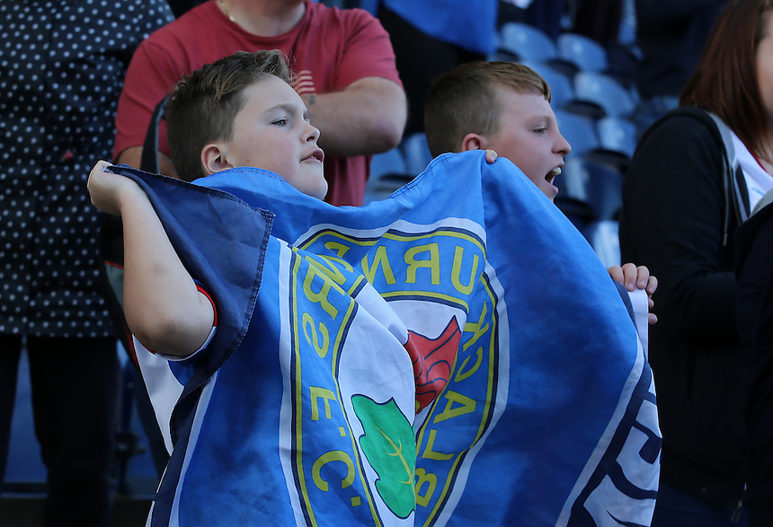 Blackburn Rovers fans during the game<br /> <br /> Photographer David Shipman/CameraSport<br /> <br /> The EFL Sky Bet Championship - Blackburn Rovers v Rotherham United - Saturday 17 September 2016 - Ewood Park - Blackburn<br /> <br /> World Copyright &copy; 2016 CameraSport. All rights reserved. 43 Linden Ave. Countesthorpe. Leicester. England. LE8 5PG - Tel: +44 (0) 116 277 4147 - admin@camerasport.com - www.camerasport.com
