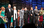 "Dick Latessa, Kristin Chenoweth, Neil Simon, Burt Bacharach, Sean Hayes, Hal David, Rob Ashford, Tony Goldwyn, Fatie Finneran.taking a bow on the  Opening Night Broadway performance Curtain Call for ""PROMISES, PROMISES"" at the Broadway Theatre, New York City..April 25, 2010."