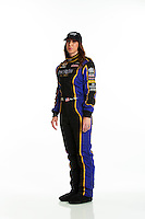 Jan 16, 2014; Palm Beach Gardens, FL, USA; NHRA funny car driver Alexis DeJoria poses for a portrait. Mandatory Credit: Mark J. Rebilas-