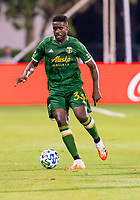 13th July 2020, Orlando, Florida, USA;  Portland Timbers defender Larrys Mabiala (33) during the MLS Is Back Tournament between the LA Galaxy versus Portland Timbers on July 13, 2020 at the ESPN Wide World of Sports, Orlando FL.