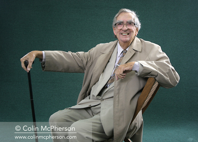 Veteran Labour Party politician Lord Denis Healey pictured at the Edinburgh International Book Festival where he talked about his career in British politics where he reached high government office. The Book Festival was the World's largest literary event and featured writers from around the world. The 2006 event featured around 550 writers and ran from 13-28 August.