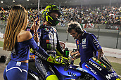 18th March 2018, Losail International Circuit, Lusail, Qatar; Qatar Motorcycle Grand Prix, Sunday race day; Valentino Rossi (Movistar Yamaha)on the grid