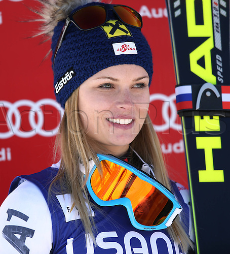 30.11.2013. Beaver Creek, Colorado, USA. Womens Super G downhill skiing world cup. Anna Fenninger (AUT).