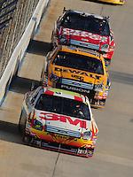 Sept. 21, 2008; Dover, DE, USA; Nascar Sprint Cup Series driver Greg Biffle (16) leads teammates Matt Kenseth and Carl Edwards during the Camping World RV 400 at Dover International Speedway. Mandatory Credit: Mark J. Rebilas-