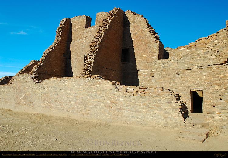 South Wall, Pueblo Bonito Chacoan Great House, Anasazi Hisatsinom Ancestral Pueblo Site, Chaco Culture National Historical Park, Chaco Canyon, Nageezi, New Mexico