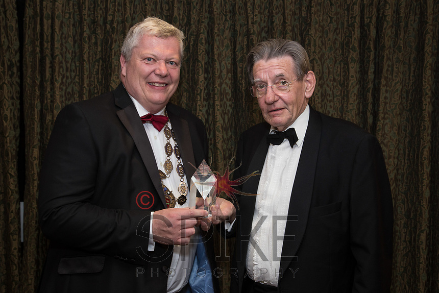 Pictured with Michael Auty QC, President of the Nottinghamshire Law Society is Peter Joyce - John Hopkins Award