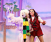 Jack and the Beanstalk <br /> by Susie McKenna with music by Steven Edis <br /> at the Hackney Empire, London, Great Britain <br /> press photocall <br /> 25th November 2015  <br /> <br /> <br /> <br /> Debbie Kurup as Jack <br /> <br /> Kat B as Snowman<br /> <br /> <br /> <br /> Photograph by Elliott Franks <br /> Image licensed to Elliott Franks Photography Services