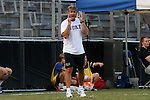 05 September 2015: Duke head coach John Kerr. The Duke University Blue Devils hosted the Iona University Gaels at Koskinen Stadium in Durham, NC in a 2015 NCAA Division I Men's Soccer match. Duke won the game 2-1.