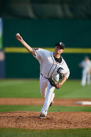 Connecticut Tigers relief pitcher Wes Noble (39) delivers a pitch during a game against the Lowell Spinners on August 26, 2018 at Dodd Stadium in Norwich, Connecticut.  Connecticut defeated Lowell 11-3.  (Mike Janes/Four Seam Images)
