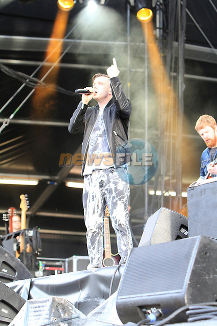 Plan B on stage at Slane Concert with Eminem 2013 on Saturday 17th August 2013 <br /> Picture:  Thos Caffrey/ www.newsfile.ie