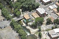 aerial of Salida, CO