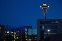 Space Needle and the Bill and Melinda Gates Foundation in Seattle, Washington, USA on Wednesday, 3 June 2015. (Matt Mills McKnight for Le Monde)