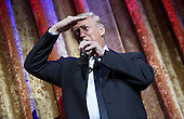 United States President-Elect Donald Trump delivers remarks at the Chairman's Global Dinner, at the Andrew W. Mellon Auditorium in Washington, D.C. on January 17, 2017. The invitation only black-tie event is a chance for Trump to introduce himself and members of his cabinet to foreign diplomats.<br /> Credit: Kevin Dietsch / Pool via CNP