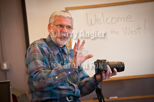 Stuart Scofield teaching the Craft of Photography at Great Basin College during Shooting the West XXIV, WInnemucca, Nevada