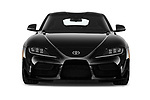 Car photography straight front view of a 2020 Toyota GR-Supra Premium 2 Door Coupe Front View