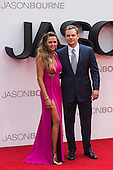London, UK. 11 July 2016. Actor Matt Damon with wife Luciana Bozán Barroso. Red carpet arrivals for the European Premiere of the Universal movie Jason Bourne (2016) in London's Leicester Square.