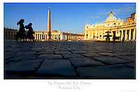 20x30 or 24x36 inch poster of Two nuns crossing Saint Peter's Square in the Vatican City.