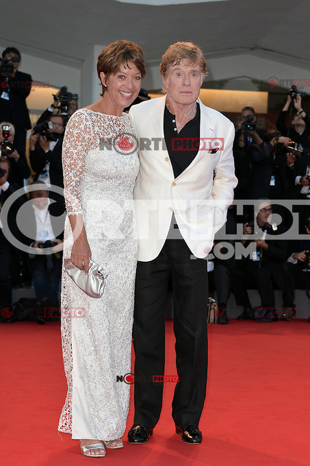 VENICE, ITALY - SEPTEMBER 06: Robert Redford and Sibylle Szaggars at the 'The Company You Keep' Premiere during the 69th Venice Film Festival at the Palazzo del Casino on September 6, 2012 in Venice, Italy. &copy;&nbsp;Maria Laura Antonelli/AGF/MediaPunch Inc. ***NO ITALY*** /NortePhoto.com<br />